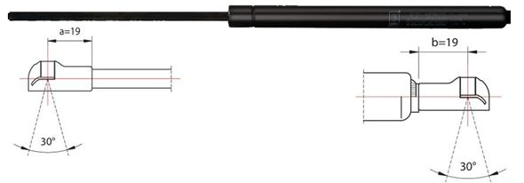 METZGER  2110309 Heckklappendämpfer / Gasfeder Länge: 280mm, Hub: 95mm