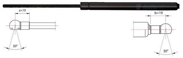 METZGER  2110350 Heckklappendämpfer / Gasfeder Länge: 905mm, Hub: 307mm