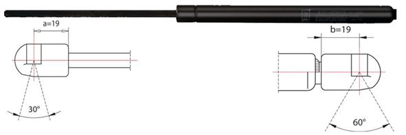 METZGER  2110461 Heckklappendämpfer / Gasfeder Länge: 505mm, Hub: 170mm, Länge: 505mm