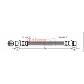 METZGER Bremsschlauch 4110329 für AUDI A6 (4B2, C5) 2.4 ab Baujahr 07.1998, 136 PS