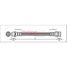 Bremsschlauch Länge: 458mm, Gewindemaß 2: F10 x 1 mit OEM-Nummer 1304007