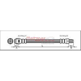 Bremsschlauch Länge: 284mm, Gewindemaß 1: M10 x 1, Gewindemaß 2: F10 x 1 mit OEM-Nummer 171 428 0035
