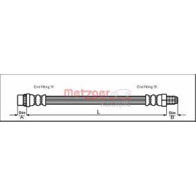 Bremsschlauch 4111165 TWINGO 2 (CN0) 1.2 Bj 2017