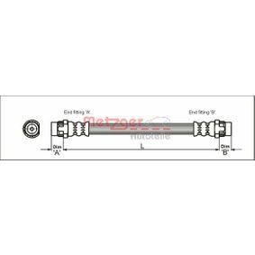METZGER  4111166 Bremsschlauch Länge: 165mm, Gewindemaß 1: F10 x 1