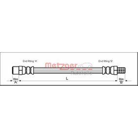 METZGER Bremsschlauch 4111343 für AUDI COUPE (89, 8B) 2.3 quattro ab Baujahr 05.1990, 134 PS