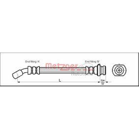 Ελαστικός σωλήνας φρένων 4111971 MICRA 2 (K11) 1.3 i 16V Έτος 1993