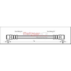 Bremsschlauch Länge: 444mm, Gewindemaß 2: F10 x 1 mit OEM-Nummer 251 611 775 B