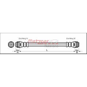 Bremsschlauch Länge: 146mm, Gewindemaß 2: F10 x 1 mit OEM-Nummer 6X0 611 775