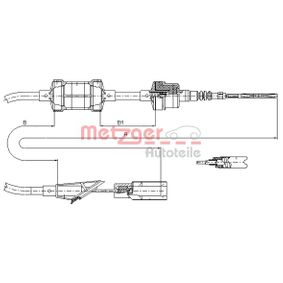 Clutch Cable 412.11 PUNTO (188) 1.2 16V 80 MY 2006