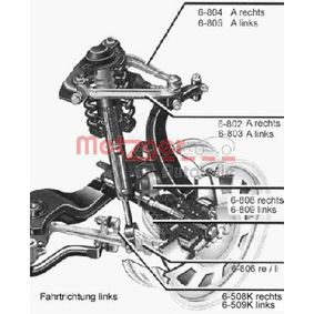 Lenker, Radaufhängung Konusmaß: 21mm mit OEM-Nummer 4D0407151P