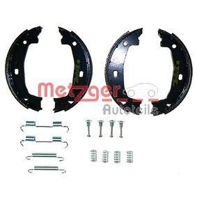Brake Shoe Set, parking brake Ø: 160,5mm, Width: 20mm, Ø: 160,5mm with OEM Number 3441 6761 291