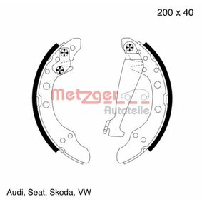 Bremsbackensatz Breite: 40,0mm, Dicke/Stärke: 4,8mm mit OEM-Nummer 1H0609 527