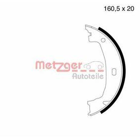 Brake Shoe Set, parking brake Ø: 160,5mm, Width: 20mm, Ø: 160,5mm with OEM Number 3441 6 761 291