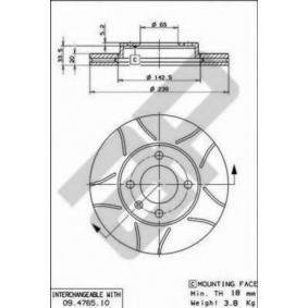 Bremsscheibe Bremsscheibendicke: 19,9mm, Lochanzahl: 4, Ø: 239mm mit OEM-Nummer 321.615.301 C