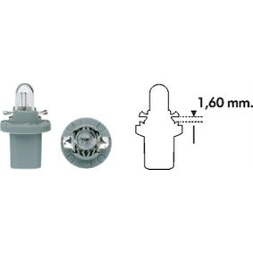 Bulb, instrument lighting B2,4W, B8,5d, 1,2W, 24V 003724100000