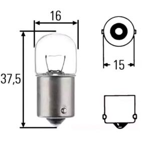 Bulb, licence plate light R5W, BA15s, 24V, 5W 004627100000 MERCEDES-BENZ SPRINTER, VARIO