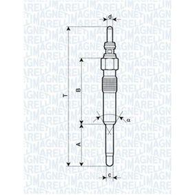 Candeletta Lunghezza fuori tutto: 97mm, Dimensioni filettatura: M10X1 con OEM Numero N105 792 02