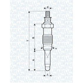 Glühkerze Länge über Alles: 72,4mm, Gewindemaß: M12X1,25 mit OEM-Nummer 598110