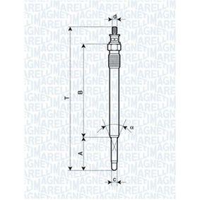 Glühkerze Länge über Alles: 128,4mm, Gewindemaß: M10X1 mit OEM-Nummer 5003 03569