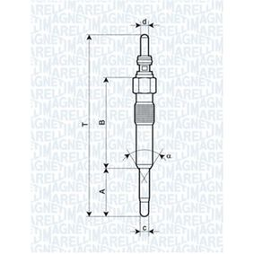 Glow Plug Total Length: 92mm, Thread Size: M10X1 with OEM Number 82 00 434 855