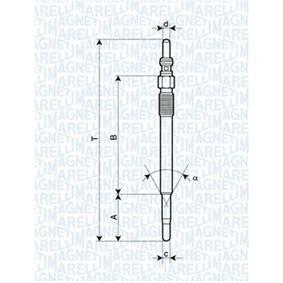 Glühkerze Länge über Alles: 118,9mm, Gewindemaß: M8X1 mit OEM-Nummer 93178047