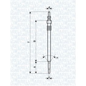 Glühkerze Länge über Alles: 150,9mm, Gewindemaß: M9X1 mit OEM-Nummer 55 18 78 63
