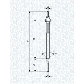 MAGNETI MARELLI  062900036304 Glow Plug Total Length: 170mm, Thread Size: M10X1,25