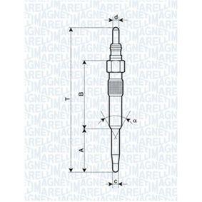 Glühkerze Länge über Alles: 97mm, Gewindemaß: M10X1 mit OEM-Nummer N 10591603