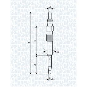 Glow Plug Total Length: 97mm, Thread Size: M10X1 with OEM Number N 105 916 02