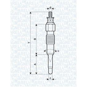Glühkerze Länge über Alles: 77,9mm, Gewindemaß: M10X1 mit OEM-Nummer 5 0030 3569