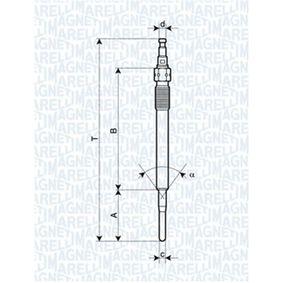 Glühkerze Länge über Alles: 116,5mm, Gewindemaß: M8X1 mit OEM-Nummer N 105 798 02