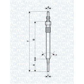 Glühkerze Länge über Alles: 129,4mm, Gewindemaß: M10X1 mit OEM-Nummer 059963319E