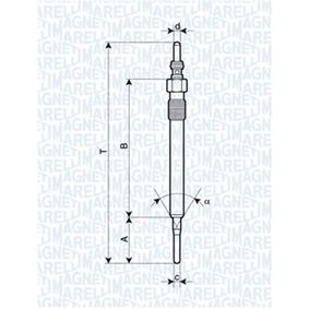 Glow Plug Total Length: 129,4mm, Thread Size: M10X1 with OEM Number 03L 963 319 C