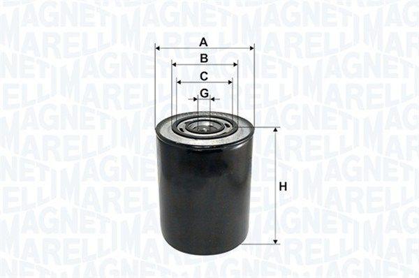 MAGNETI MARELLI  153071760101 Ölfilter Höhe: 146mm