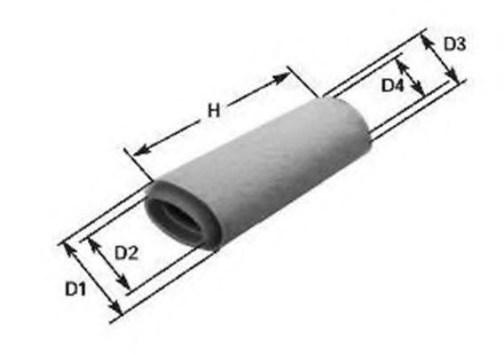 MAGNETI MARELLI  153071760247 Luftfilter Breite: 99mm, Höhe: 81mm, Höhe 1: 434mm
