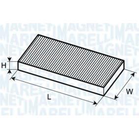 MAGNETI MARELLI Filter, Innenraumluft 350203061050 für AUDI 80 Avant (8C, B4) 2.0 E 16V ab Baujahr 02.1993, 140 PS