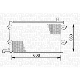 Kondensator, Klimaanlage mit OEM-Nummer 1K0.820.411Q