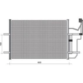 Condensador MAZDA 3 (BK) 1.4 de Año 10.2003 84 CV: Condensador, aire acondicionado (350203355000) para de MAGNETI MARELLI