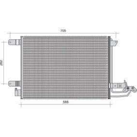 Kondensator, Klimaanlage mit OEM-Nummer 1K0 820 411 F
