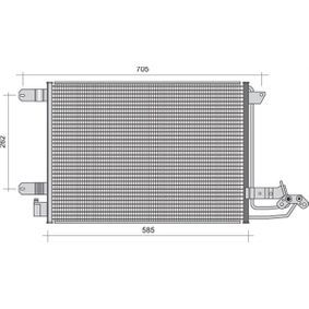 Kondensator, Klimaanlage mit OEM-Nummer 1K0.820.411H