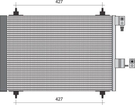 MAGNETI MARELLI  350203365000 Kondensator, Klimaanlage