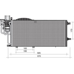 Kondensator, Klimaanlage mit OEM-Nummer 13140750