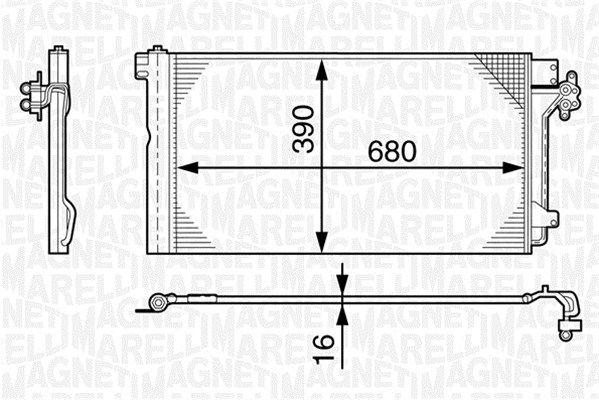 MAGNETI MARELLI  350203478000 Kondensator, Klimaanlage
