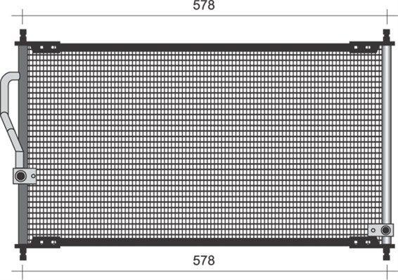 MAGNETI MARELLI  350203484000 Kondensator, Klimaanlage