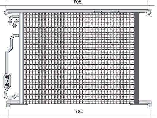 MAGNETI MARELLI  350203487000 Kondensator, Klimaanlage