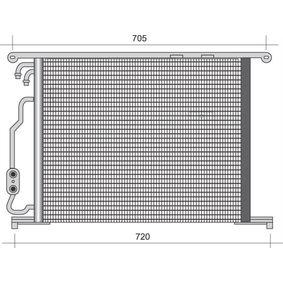 Kondensator, Klimaanlage mit OEM-Nummer 220 500 0254