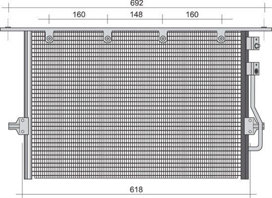 MAGNETI MARELLI  350203494000 Kondensator, Klimaanlage