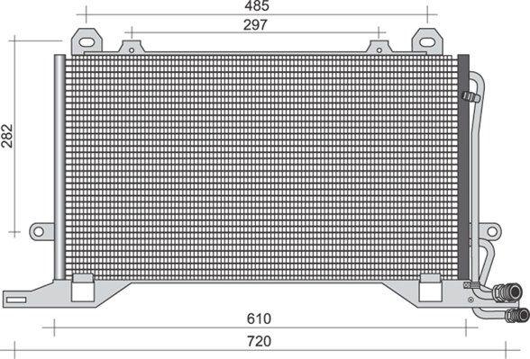 MAGNETI MARELLI  350203495000 Kondensator, Klimaanlage