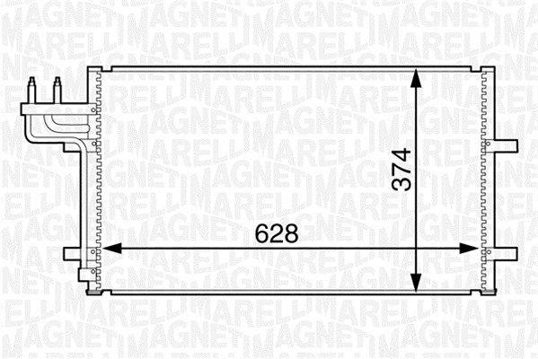 MAGNETI MARELLI  350203601000 Kondensator, Klimaanlage