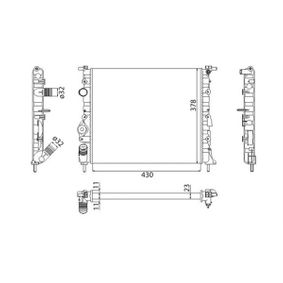 Kühler, Motorkühlung 350213261003 CLIO 2 (BB0/1/2, CB0/1/2) 1.5 dCi Bj 2012